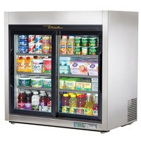 True TSD-9G-HC-LD Stainless Steel Countertop Display Refrigerator with Sliding Doors