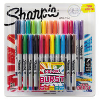 Sharpie 1949558 Color Burst Assorted Colors Ultra Fine Point Permanent Marker - 24/Pack