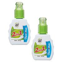 Paper Mate 42032 Liquid Paper 2-in-1 Corrective Fluid 22mL Bottle - 2/Pack