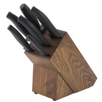 Dexter-Russell 21009 SofGrip 7-Piece Black Handle Slant Knife Block Set