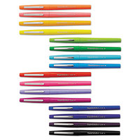 Paper Mate 1928607 Point Guard Flair Tropical Ink with Assorted Barrel Colors 0.7mm Bullet Point Stick Pen   - 16/Set