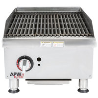 APW Wyott GCRB-18i Champion CharRock Lava Rock 18 inch Charbroiler with Safety Pilot - 60,000 BTU