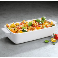 Villeroy & Boch 13-6021-3274 Cooking Elements 9 1/2 inch x 5 1/2 inch White Porcelain Rectangle Baking Dish - 6/Case