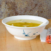 Thunder Group 5065BB Blue Bamboo 32 oz. Round Melamine Rimless Bowl - 12/Case