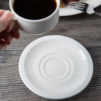 Villeroy & Boch 16-4003-1280 Sedona Function 5 7/8 inch White Porcelain Saucer - 6/Case