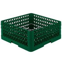 Vollrath PM1211-3-19 Traex Plate Crate Green 12 Compartment Plate Rack - Holds 5 inch to 7 5/8 inch Plates