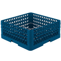 Vollrath PM1211-3-44 Traex® Plate Crate Royal Blue 12 Compartment Plate Rack - Holds 5 inch to 7 5/8 inch Plates
