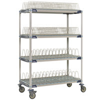 Metro PR48VX4 MetroMax i Mobile 26 inch x 50 inch Drying Rack Shelf Kit with 63 inch Posts and Casters
