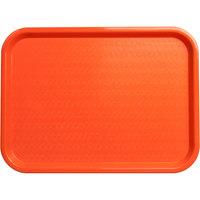 Carlisle CT121624 Cafe 12 inch x 16 inch Orange Standard Plastic Fast Food Tray