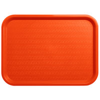 Carlisle CT121624 Cafe 12 inch x 16 inch Orange Standard Plastic Fast Food Tray