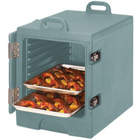 Cambro 1318MTC401 Camcarrier Slate Blue Insulated Tray / Sheet Pan Carrier - Front Load, Holds Half Size Pans