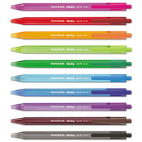 Paper Mate 1951396 InkJoy 100 RT Assorted Ink with Assorted Barrel Colors 1mm Retractable Ballpoint Pen - 20/Pack