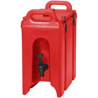 Cambro 250LCD158 Camtainer 2.5 Gallon Hot Red Insulated Beverage Dispenser
