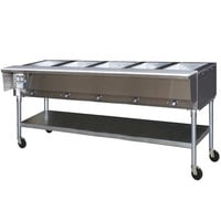 Eagle Group PDHT5 Portable Electric Hot Food Table Five Pan - 240V - Open Well