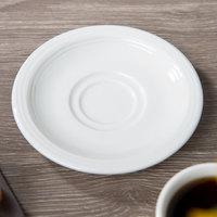 Villeroy & Boch 16-4003-1460 Sedona Function 4 3/4 inch White Porcelain Saucer - 6/Case