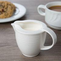 Villeroy & Boch 16-4003-0800 Sedona Function 3.5 oz. White Porcelain Creamer - 6/Case