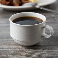 Villeroy & Boch 16-4003-1271 Sedona Function 7.5 oz. White Porcelain Stackable Cup - 6/Case