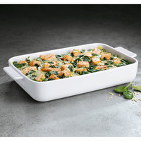 Villeroy & Boch 13-6021-3273 Cooking Elements 11 3/4 inch x 7 7/8 inch White Porcelain Rectangle Baking Dish - 6/Case