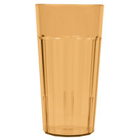 Cambro NT20153 Newport 22 oz. Amber Customizable Plastic Tumbler - 36/Case