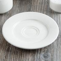 Villeroy & Boch 16-4004-1280 Affinity 6 1/4 inch White Porcelain Saucer - 6/Case