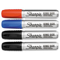 Sharpie 15674PP King Size Assorted 3-Color Chisel Tip Permanent Marker Set