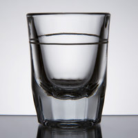 Anchor Hocking 5282/928U 2 oz. Whiskey / Shot Glass with 1 oz. Cap Line - 12/Pack
