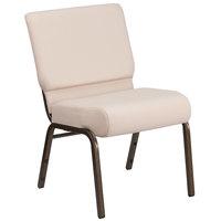 Flash Furniture FD-CH0221-4-GV-B2-GG Hercules Series Beige 21 inch Church Chair with Gold Vein Frame