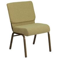 Flash Furniture FD-CH0221-4-GV-GN-GG Hercules Series Moss 21 inch Church Chair with Gold Vein Frame