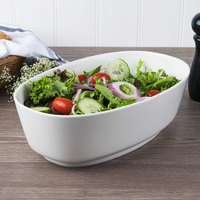 Villeroy & Boch 16-4004-3288 Affinity 101.5 oz. White Porcelain Oval Bowl - 6/Case