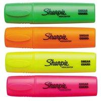 Sharpie 1825633 Assorted 4-Color Blade Tip Desk Style Highlighter