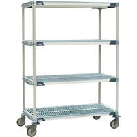 Metro X336BGX3 MetroMax i Open Grid Shelf Cart with Rubber Casters - 18 inch x 36 inch