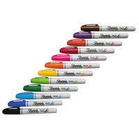 Sharpie 1810704 Assorted 12-Color Brush Tip Permanent Marker Set
