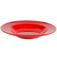 Thunder Group CR5811PR Pure Red 16 oz. Melamine Pasta Bowl - 12/Pack