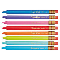 Paper Mate 1862168 Mates Assorted Barrel Color 1.3mm HB Lead #2 Mechanical Pencil   - 8/Pack