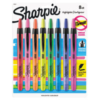 Sharpie 28101 Accent Assorted 8-Color Chisel Tip Retractable Highlighter