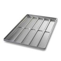 Chicago Metallic 41052 10 Mold Glazed Blunt End Hoagie Bun Pan
