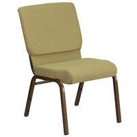 Flash Furniture FD-CH02185-GV-GN-GG Hercules Series Moss 18 1/2 inch Church Chair with Gold Vein Frame