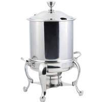 Bon Chef 39001HLCH Roman Petite 8 Qt. Stainless Steel with Chrome Accents Hinged Top Marmite Chafer