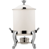 Bon Chef 39001HLCH-BIANCO Roman Petite 8 Qt. Bianco Finish with Chrome Accents Hinged Top Marmite Chafer