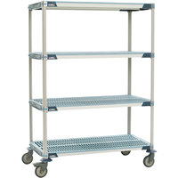 Metro X556BGX3 MetroMax i Open Grid Shelf Cart with Rubber Casters - 24 inch x 48 inch