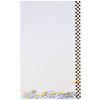 8 1/2 inch x 14 inch Menu Paper - Retro Themed Jukebox Design Right Insert - 100/Pack