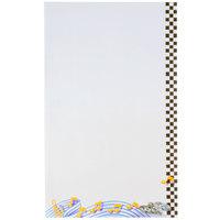 8 1/2 inch x 14 inch Menu Paper - Retro Themed Jukebox Design Right Insert - 100/Pack