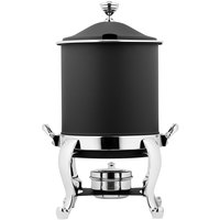 Bon Chef 39001HLCH-NERO Roman Petite 8 Qt. Nero Finish with Chrome Accents Hinged Top Marmite Chafer