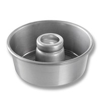 Chicago Metallic 46530 7 1/2 inch Aluminum Angel Food Cake Pan - 3 inch Deep