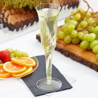 Fineline Flairware 2105 5 oz. Clear Plastic 2 Piece Champagne Flute   - 120/Case