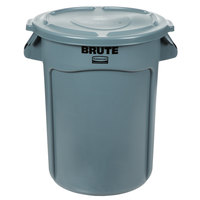 Rubbermaid BRUTE 32 Gallon Gray Trash Can and Lid