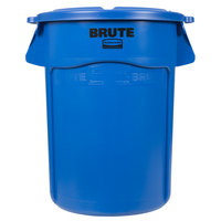 Rubbermaid BRUTE 44 Gallon Blue Trash Can and Lid