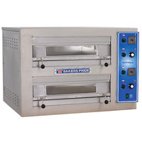 Bakers Pride EP-2-2828 Double Deck Countertop Electric Pizza Deck Oven - 208V, 3 Phase