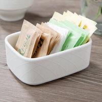 Villeroy & Boch 16-2238-1100 Bella 7.5 oz. White Porcelain Rectangular Sugar Packet Holder - 6/Case
