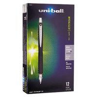 Uni-Ball 73832 Jetstream RT Black Ink with Black Barrel 1mm Retractable Roller Ball Pen - 12/Pack